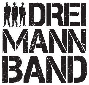 Das Logo der Dreimannband vor weissem Hintergrund zum Download..